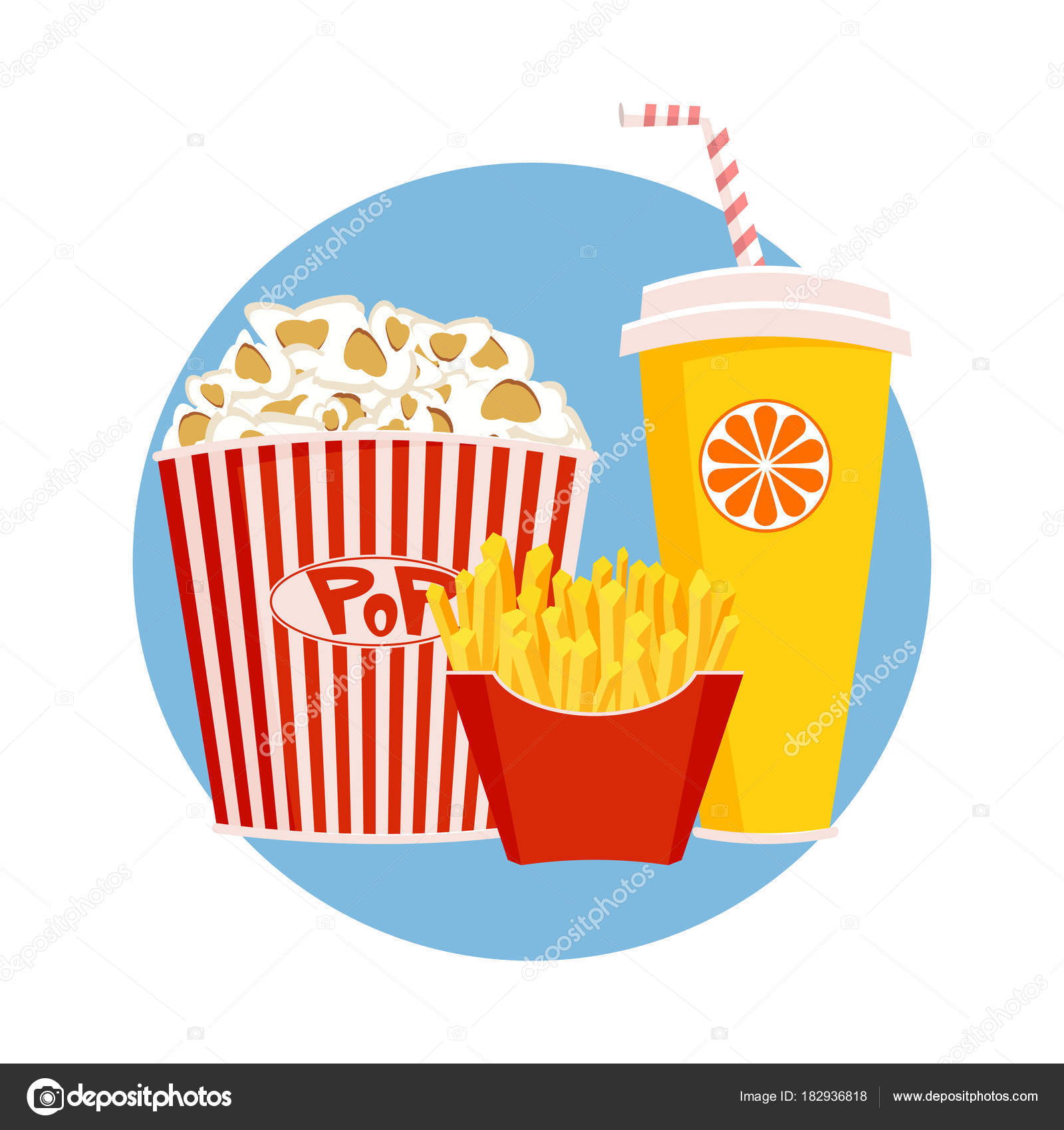 Circus Food Icon Cartoon Illustration Of Circus Food Vector