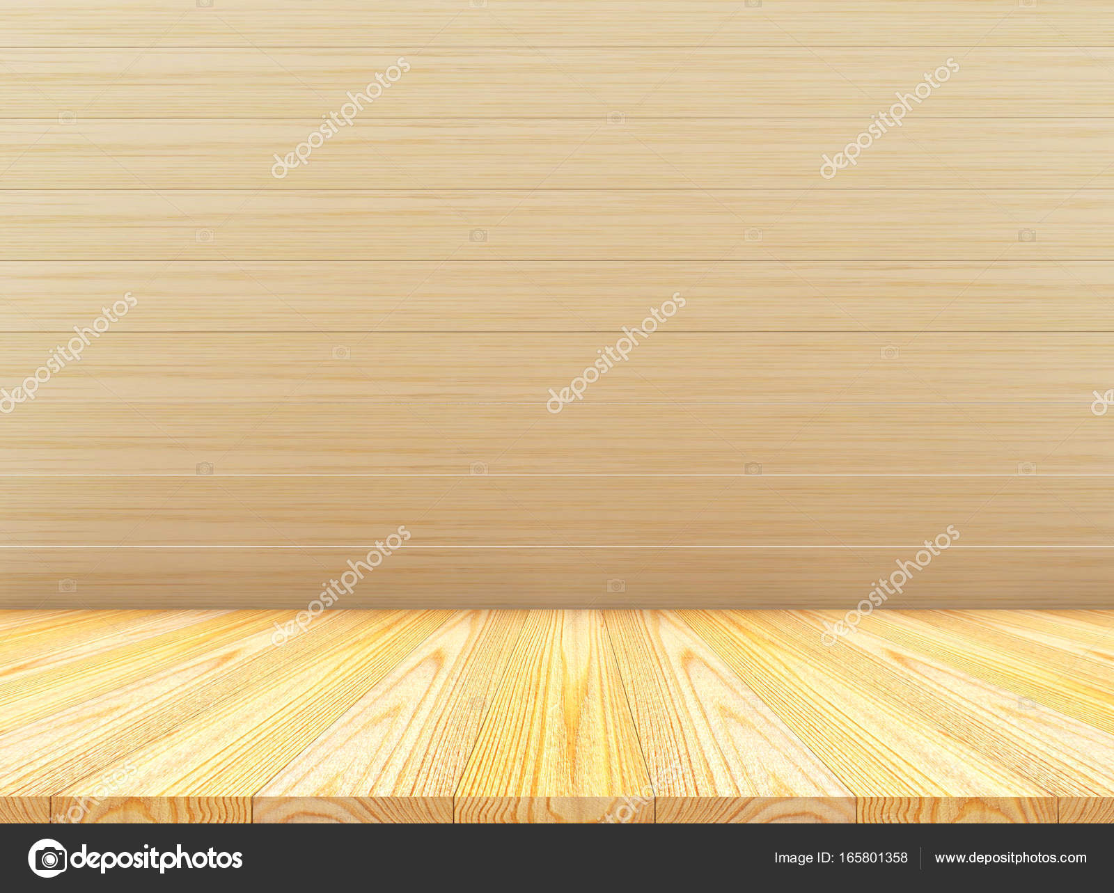 f9901b4f45298 Parede de madeira e piso com diferentes cores e texturas — Fotografia de  Stock