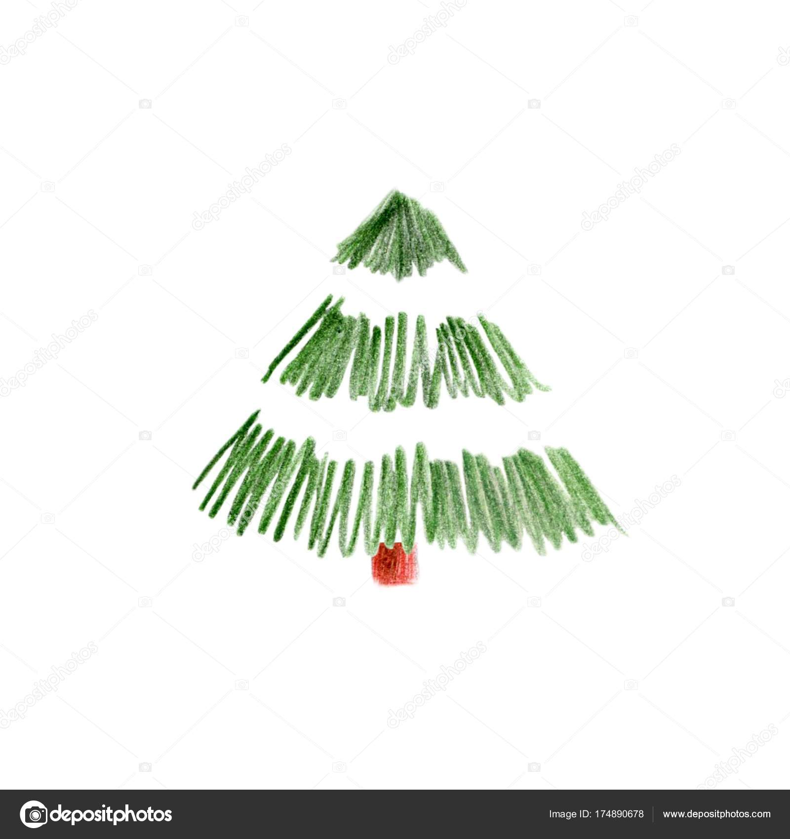 illustration of Christmas tree color pencils — Stock Photo ...