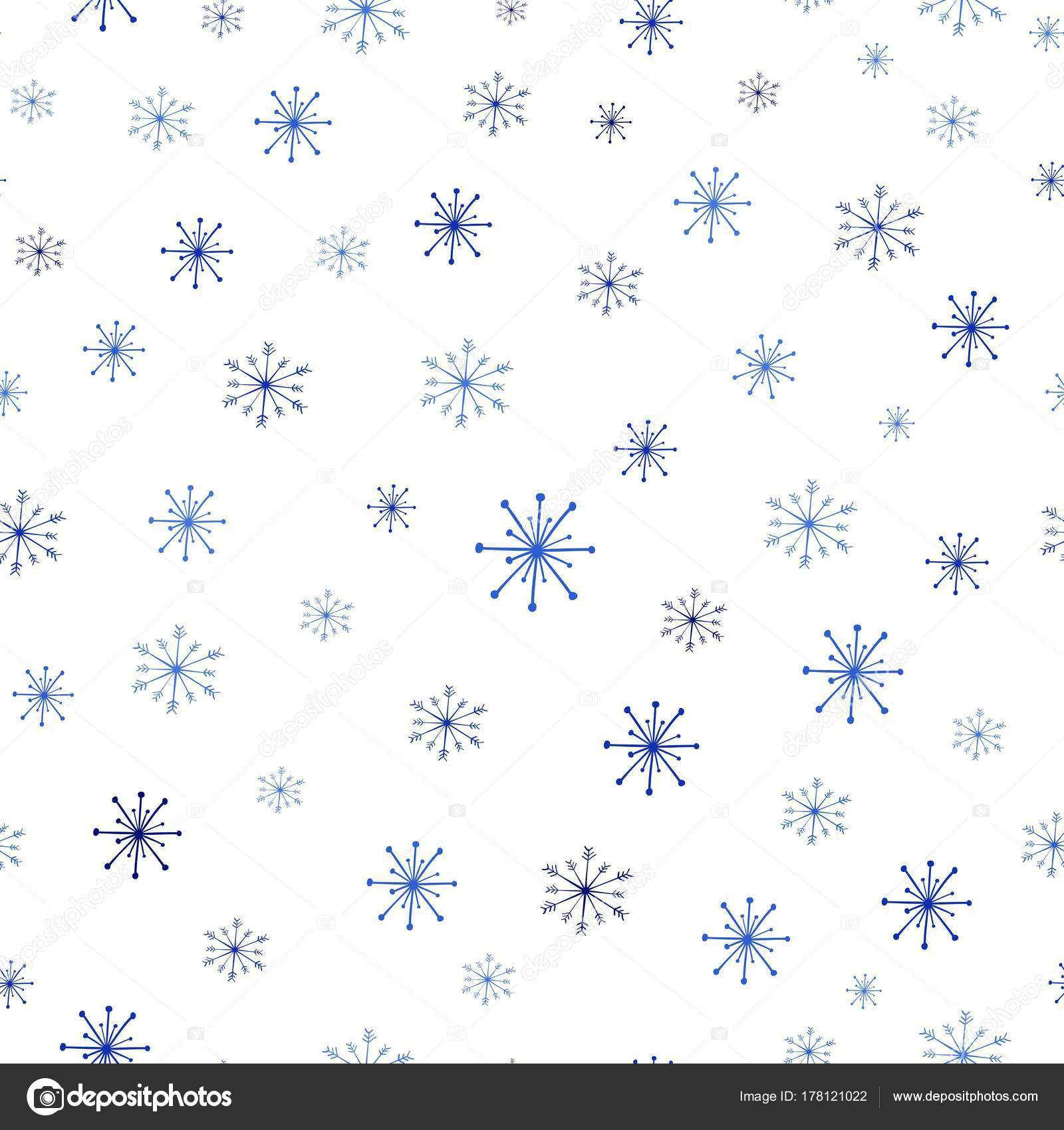 christmas seamless pattern with snowflakes on white background
