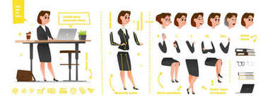 Stylized characters set for animation. Some parts of body for rig stock vector