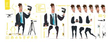 Stylized characters set for animation