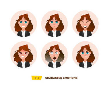 Characters avatars emotion