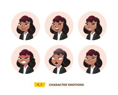 Characters avatars emotion