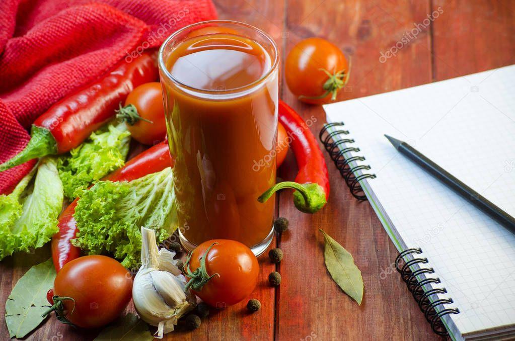 Vegetable juice and vegetables