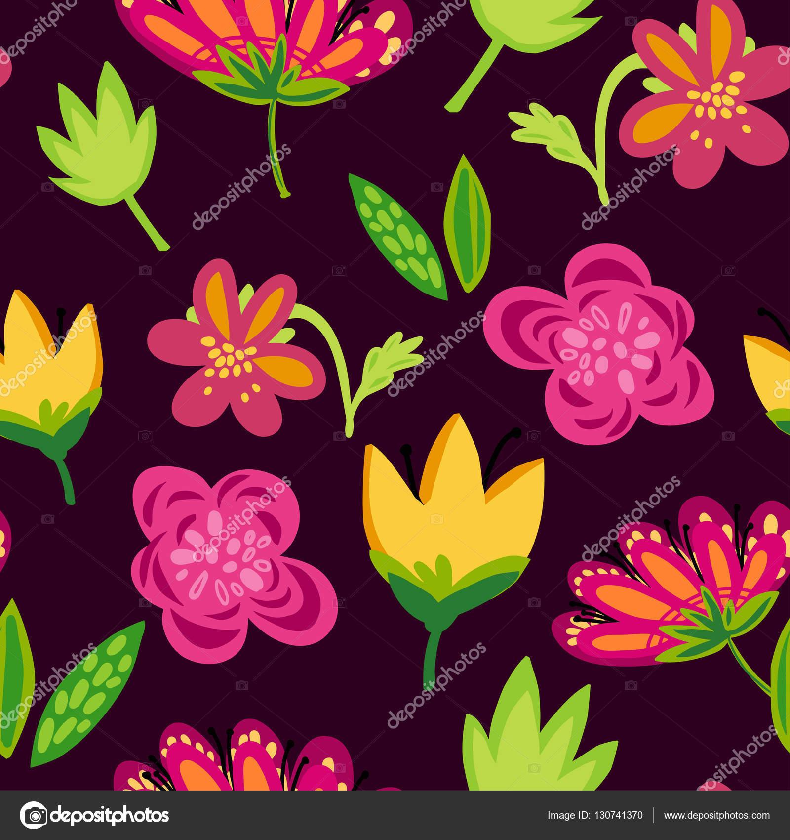 Bright Spring Flowers On Dark Background Stock Photo Katyalitvin