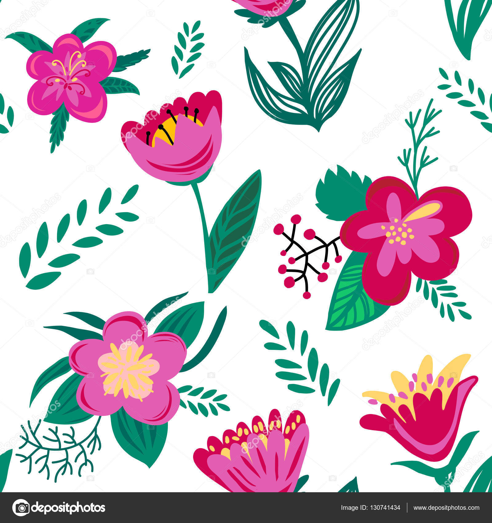Bright Spring Flowers Stock Photo Katyalitvin 130741434