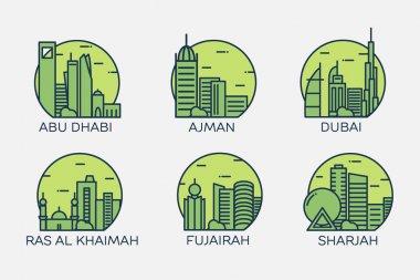 Abu Dhabi, Dubai, Ajman, Ras Al Khaimah, Fujairah, Sharjah