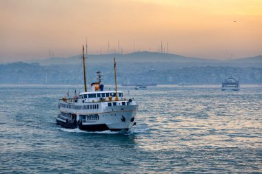 Passenger Ferry in the Bosphorus at dawn