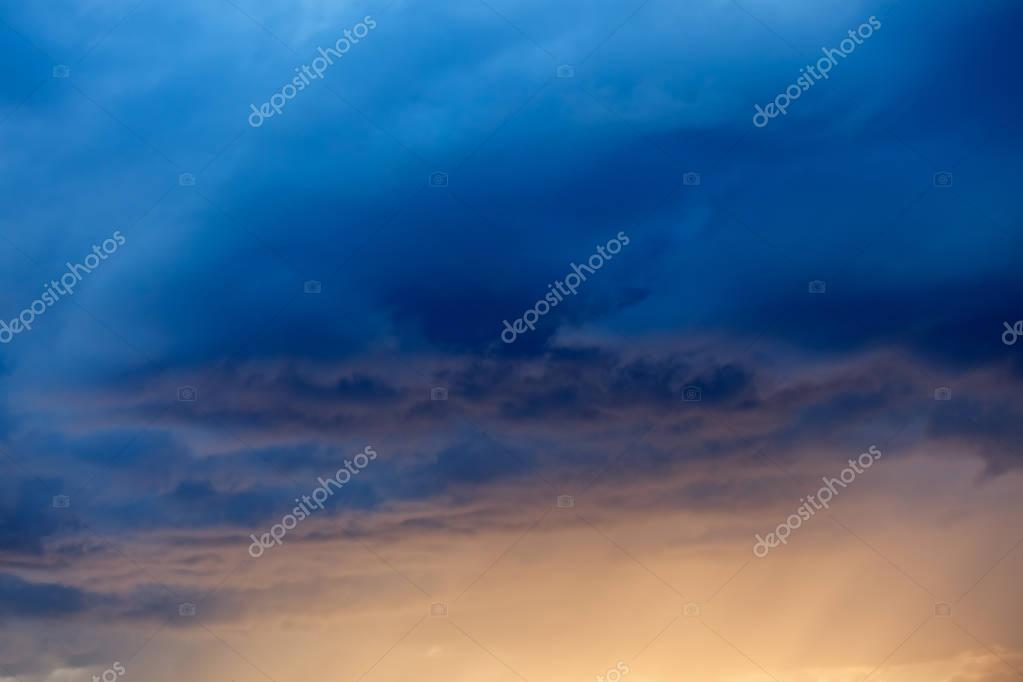 Picturesque colorful clouds in sky