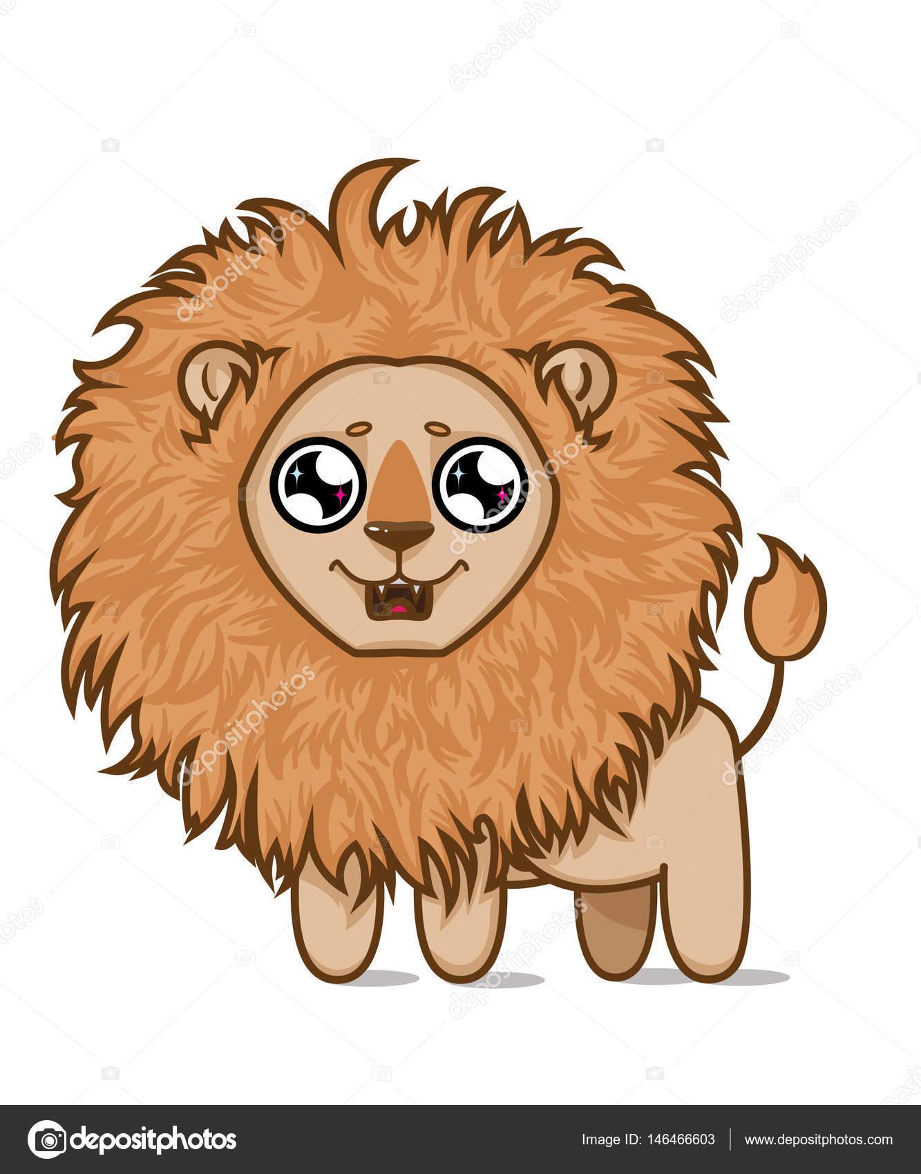 Lindo león hambriento. Sueños de cachorro de León de pescado ...