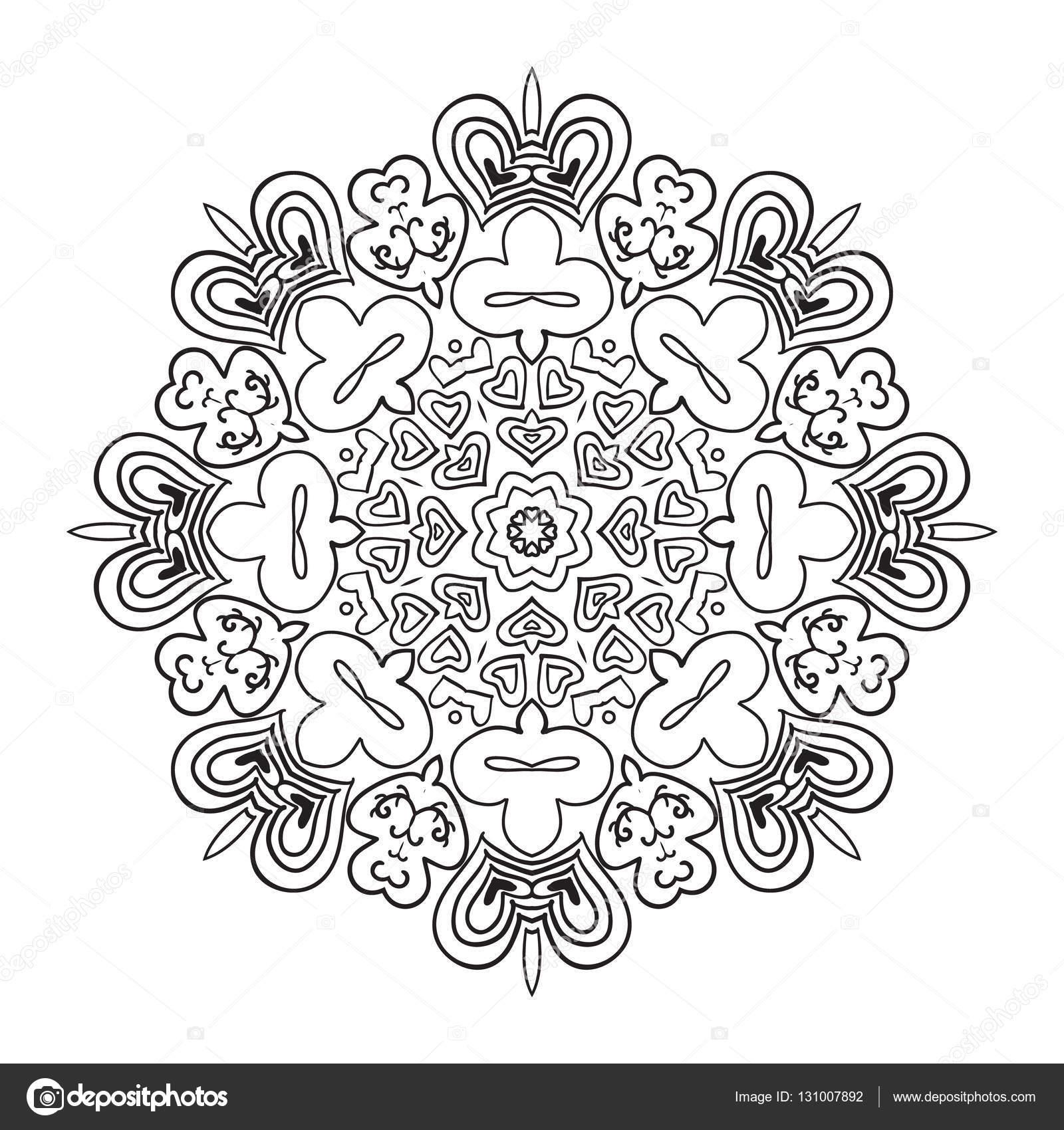 Malbuch. Mandala östlichen Muster. Zentangl Runde ornament ...