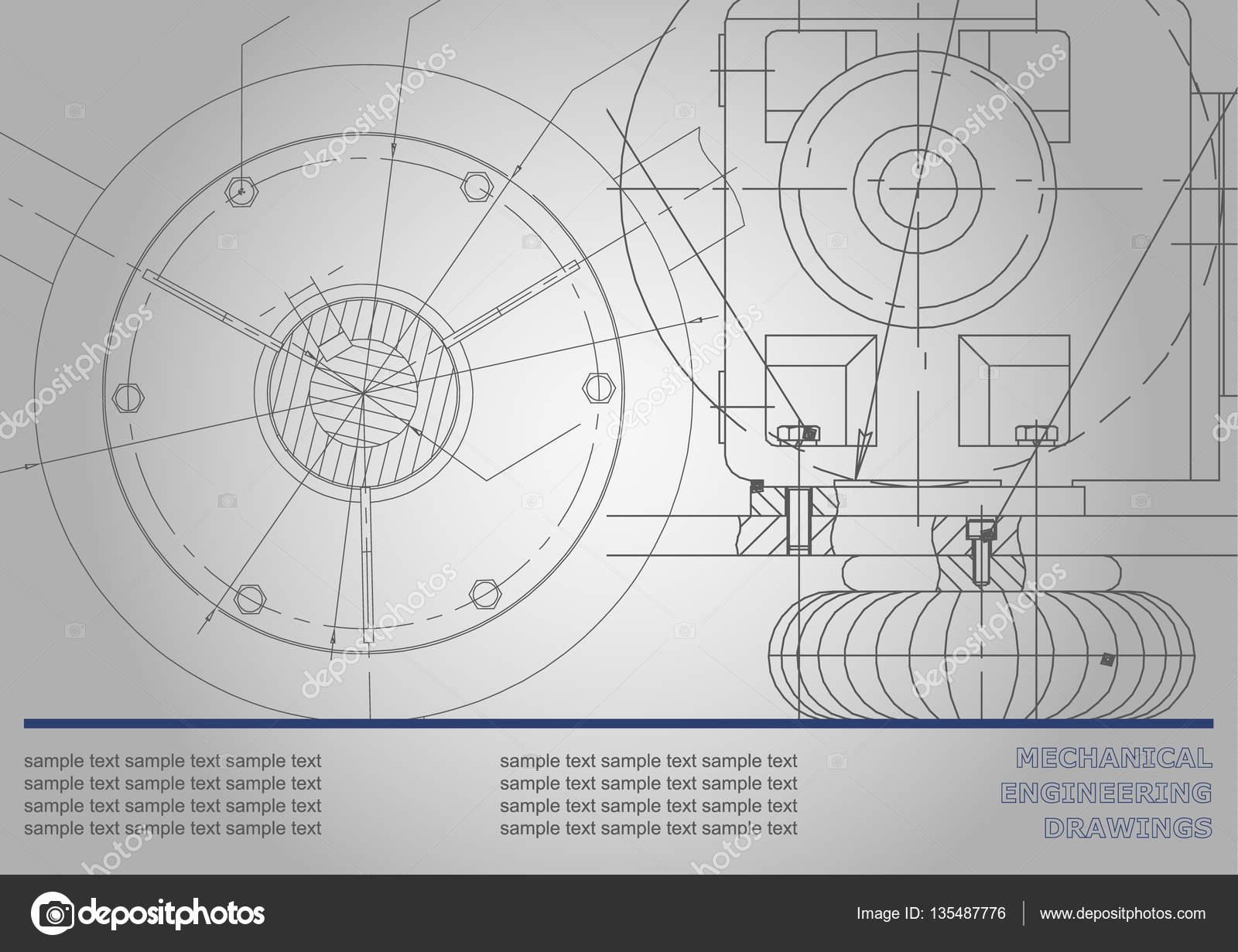 Maschinenbau, Zeichnung — Stockvektor © Bubushonok #135487776