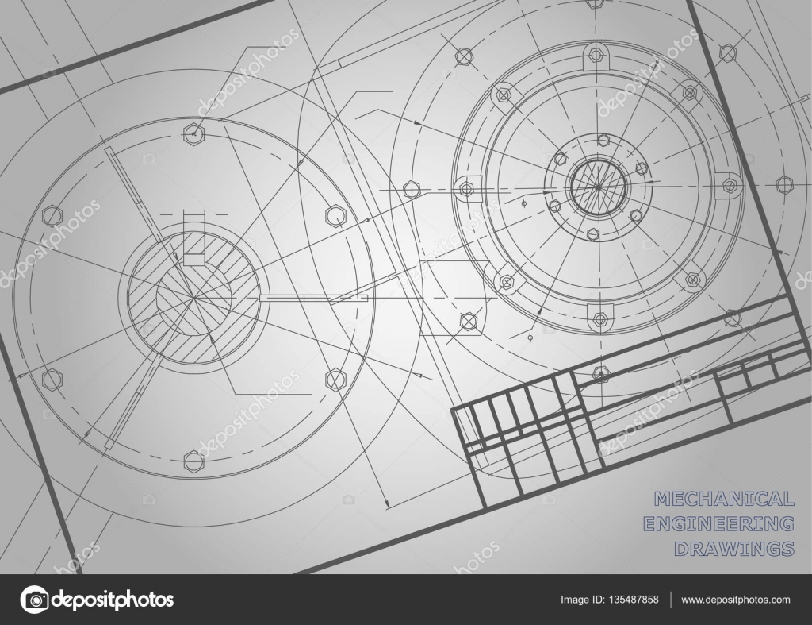 Maschinenbau, Zeichnung — Stockvektor © Bubushonok #135487858