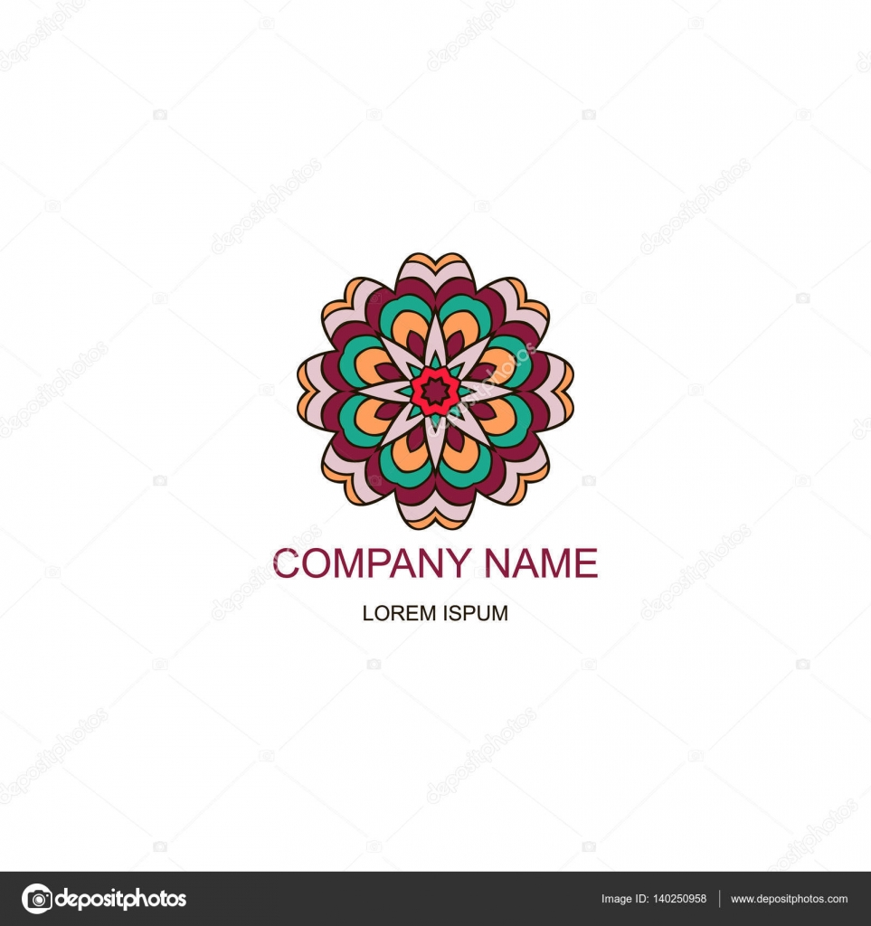 The Logo Of The Company In An Oriental Style Henna Style Stock