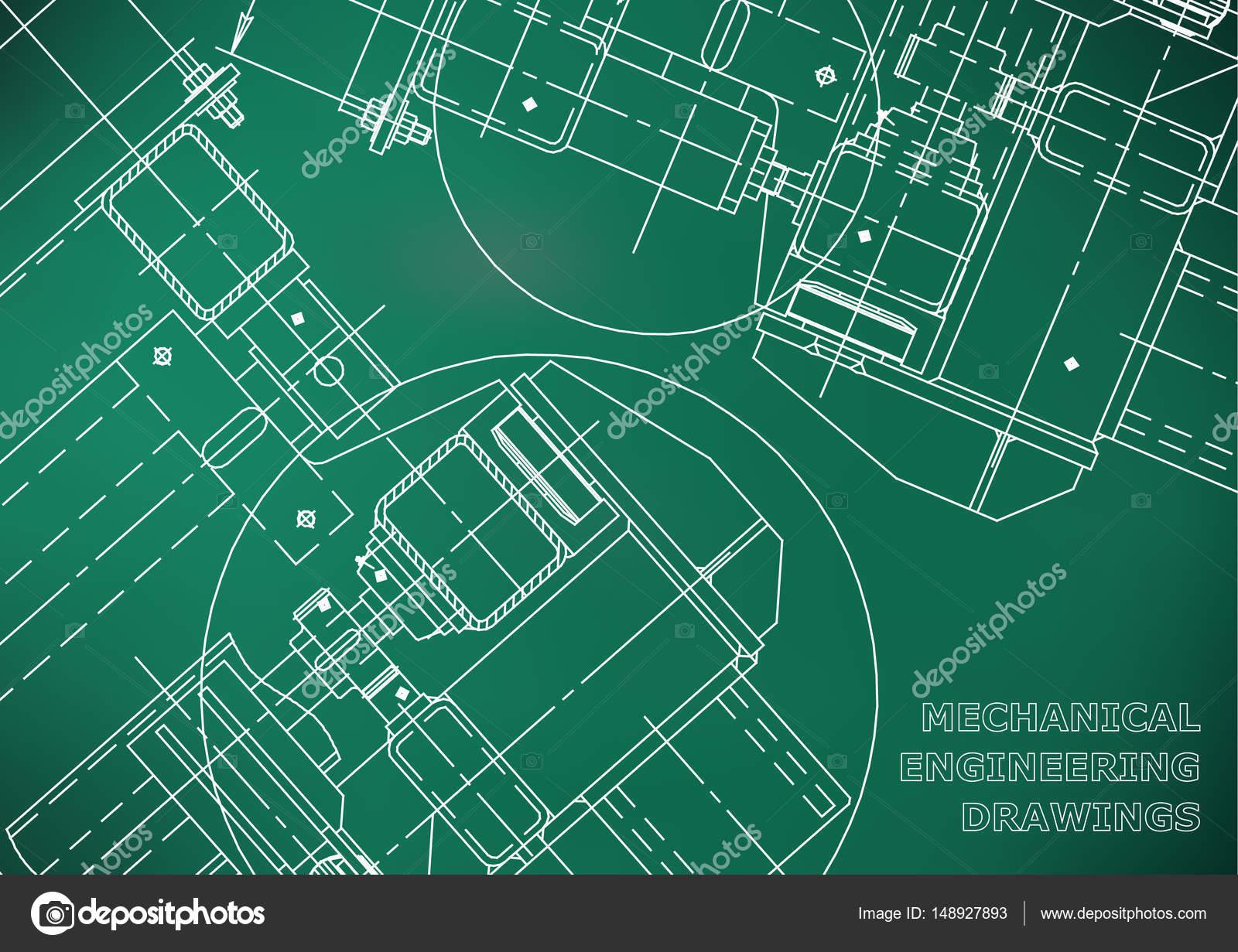 Blaupausen. Zu decken. Engineering-Zeichnung. Engineering design ...