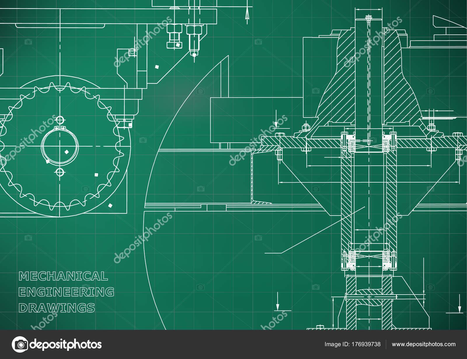 Blaupausen Technik Hintergründe Maschinenbau Zeichnungen Decken ...