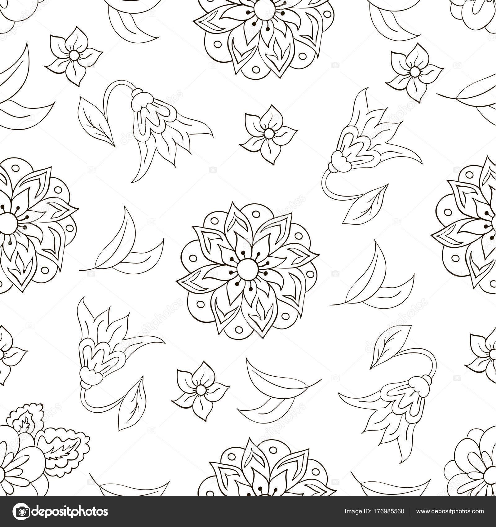 Nahtlose Muster Mit Frühlingsblumen Abdeckung Hintergrund Weiß ...