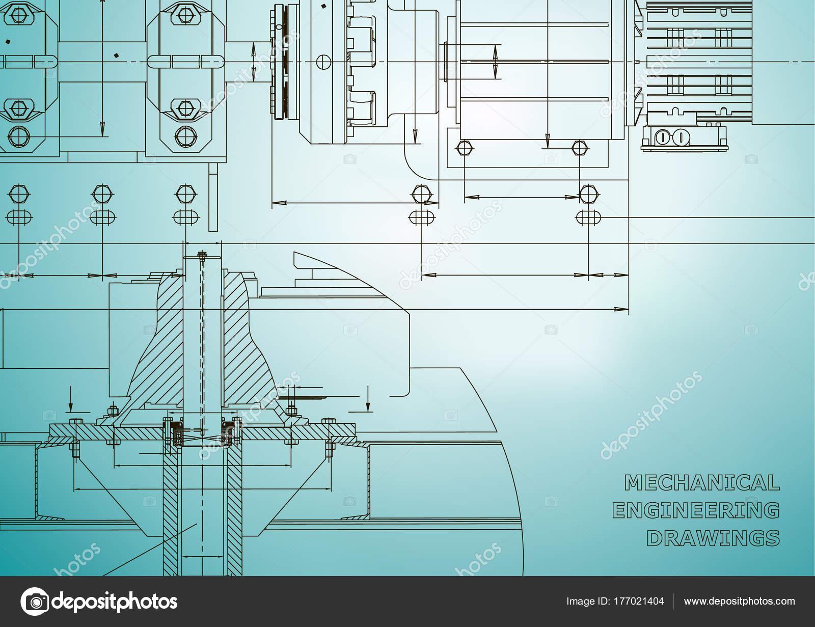 Maschinenbau Zeichnungen Technisches Design Technik Hintergründe ...