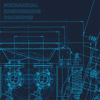 Technical cyberspace, Corporate Identity. Blueprint. Vector engineering illustration