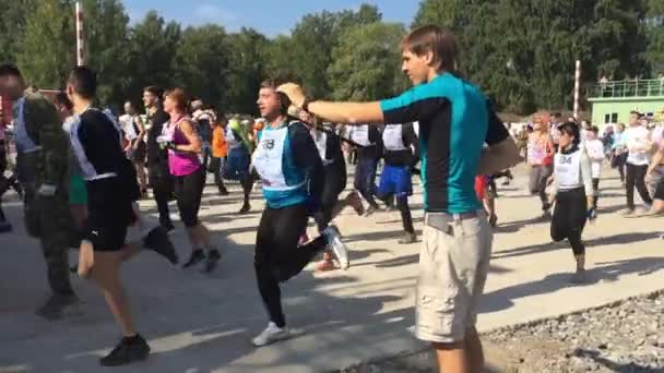 Laufen Auf Der Stelle Und Selfie Stockvideo Gaikakatmailru