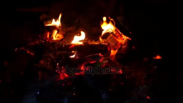 ガラスびん 夜を火で燃やす缶します 1920 x 1080 の hdスロー