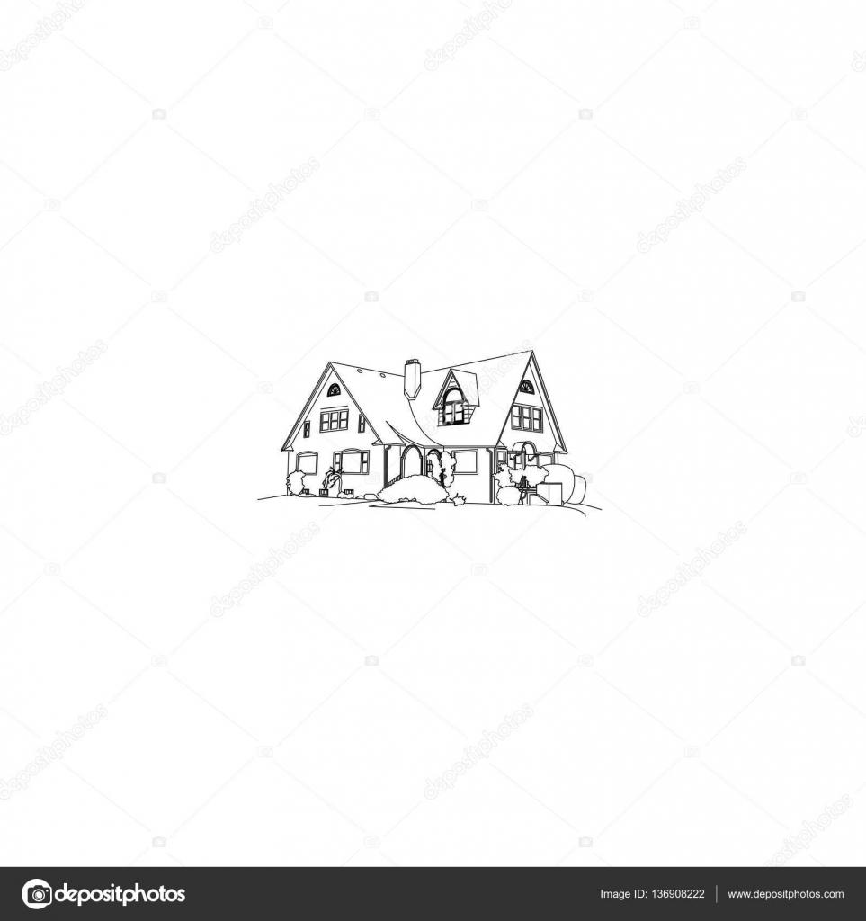 Dessin De Maison De Luxe Image Vectorielle Mizlatic