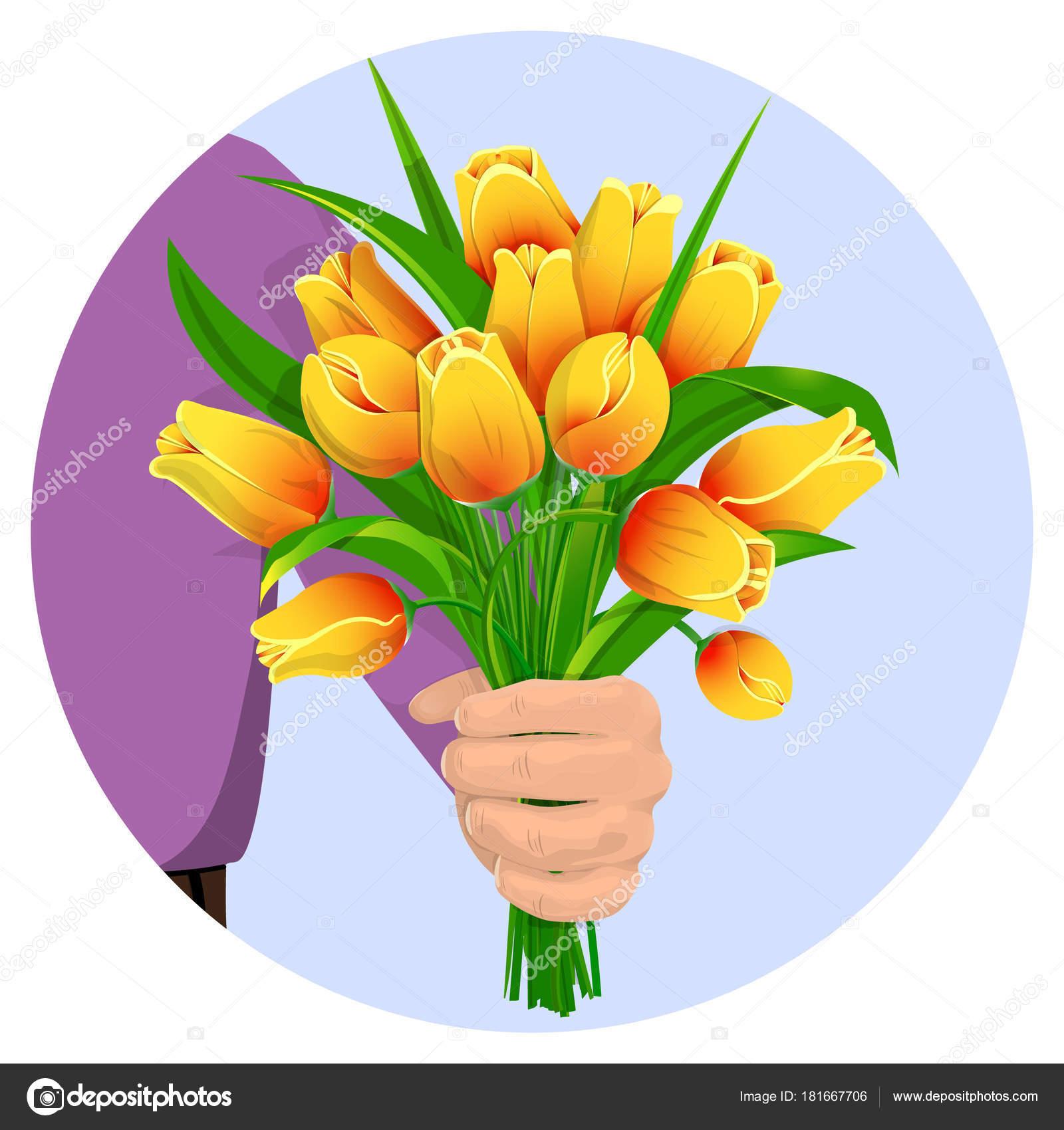 L Homme Donne Des Fleurs 03 Image Vectorielle Danilina Olga Gmail