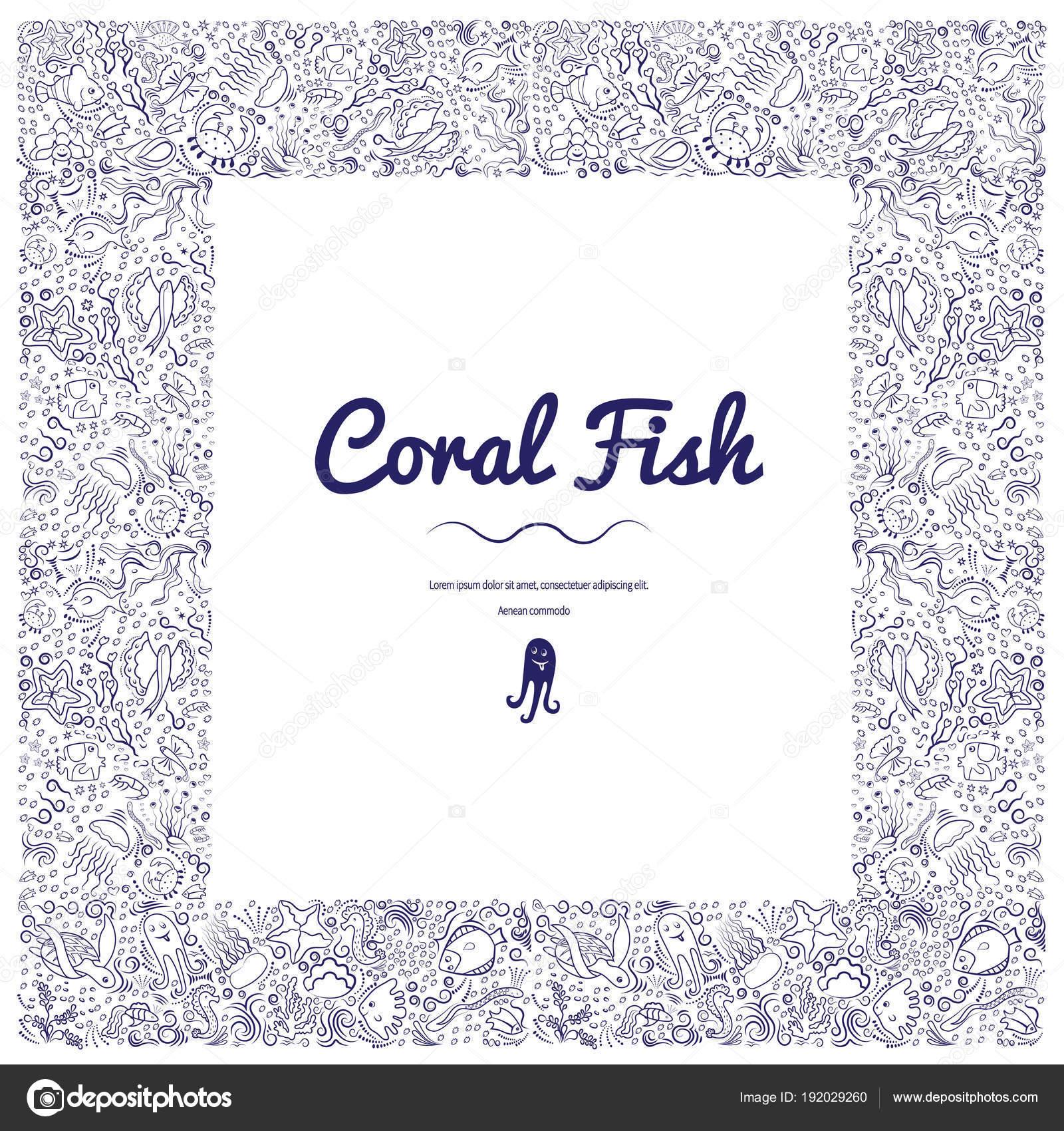 Marcos con peces coral-06 — Vector de stock © danilina.olga.gmail ...