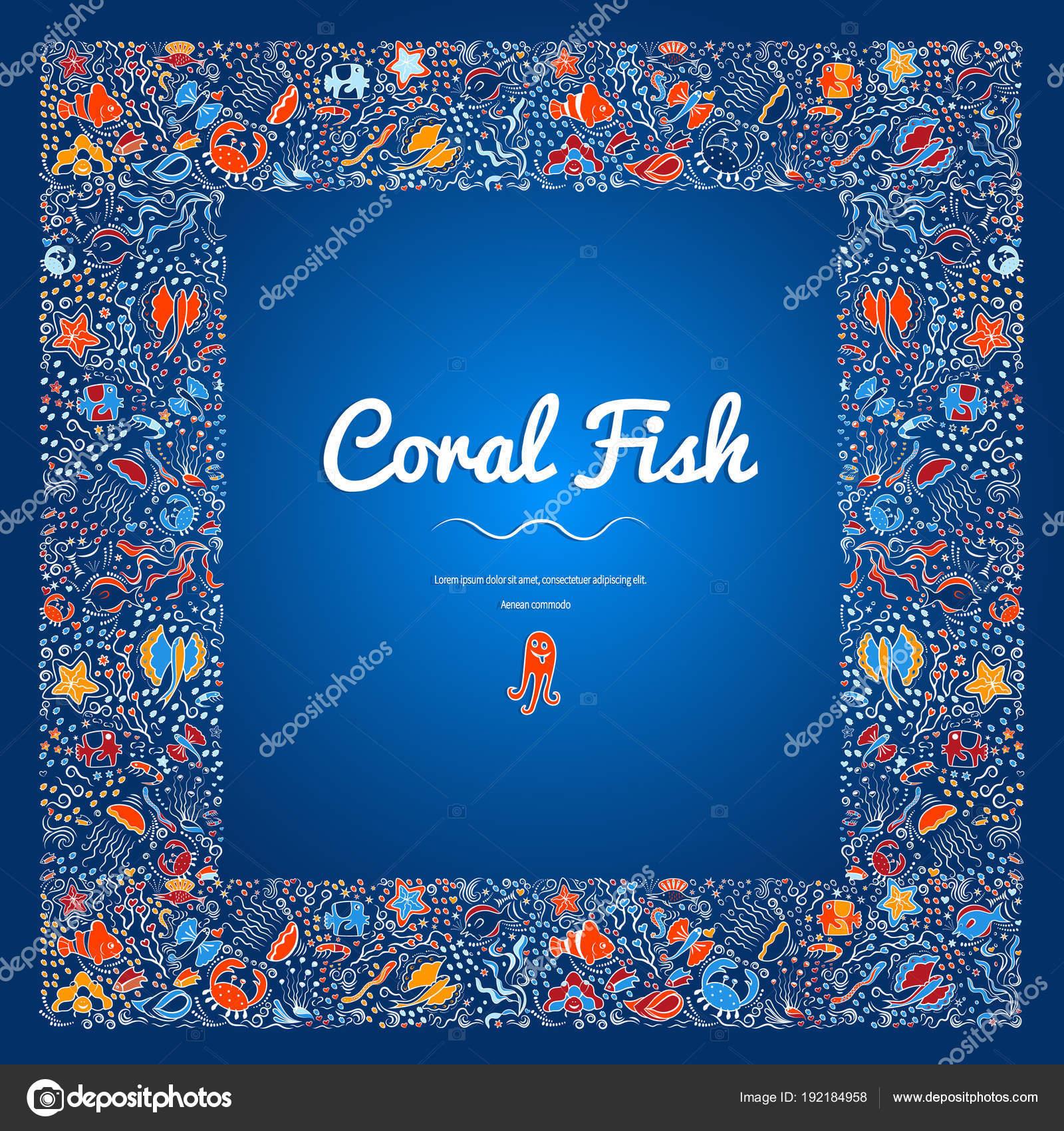 Marcos peces color-11 — Archivo Imágenes Vectoriales © danilina.olga ...
