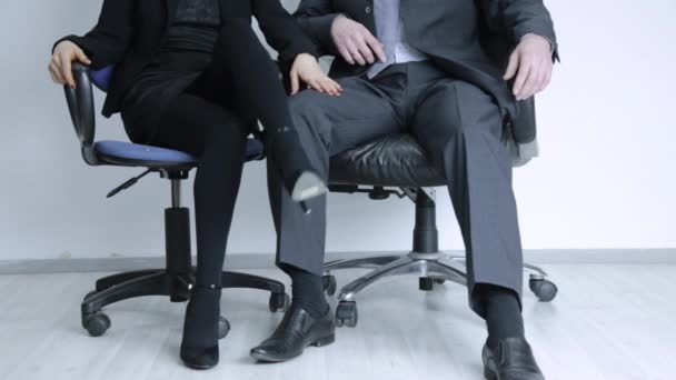 young businesswoman is sexually harassing to her boss. Office abuse and harassment concept