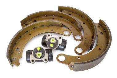 Brake cylinder and brake shoe.