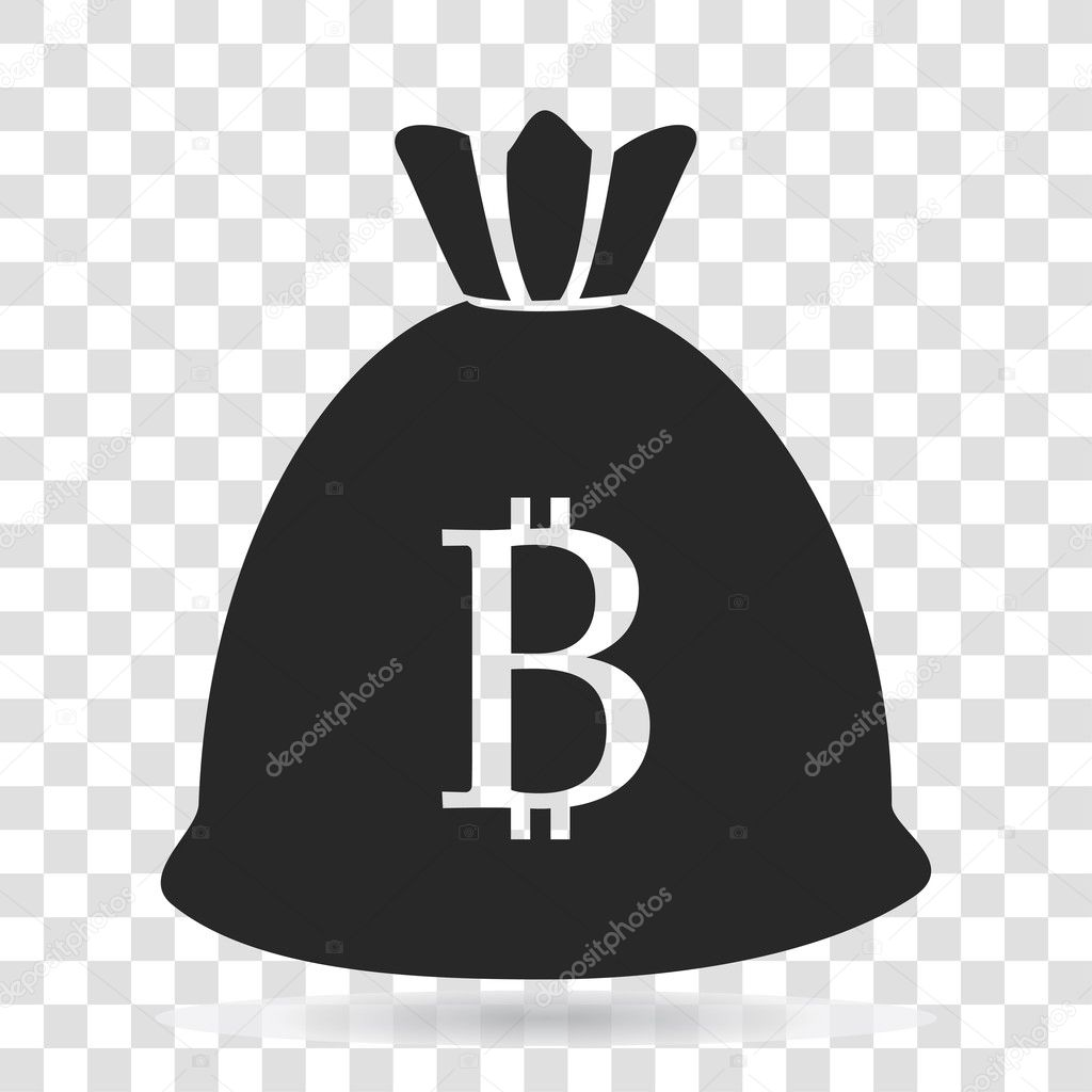 Money Bag Currency Bitcoin Icon Vector Illustration On Transparent Background Stock 127470002