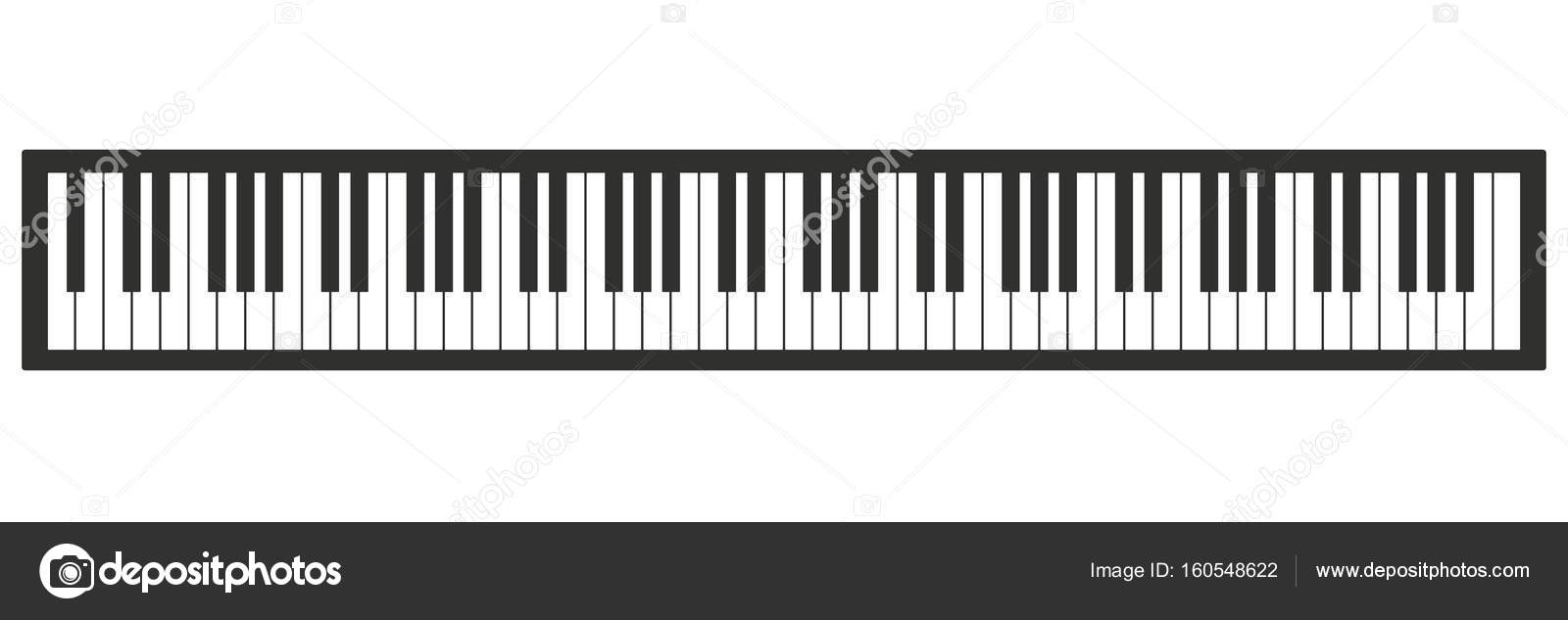 Piano Keyboard Vector Illustration 88 Keys Of Stock