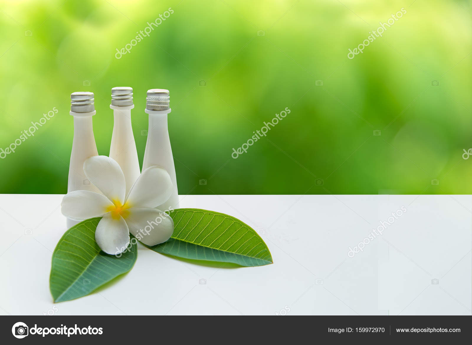 Flor tailandesa tratamientos de Spa y masaje en madera blanco con ...