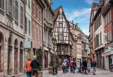 streets of Colmar town, France