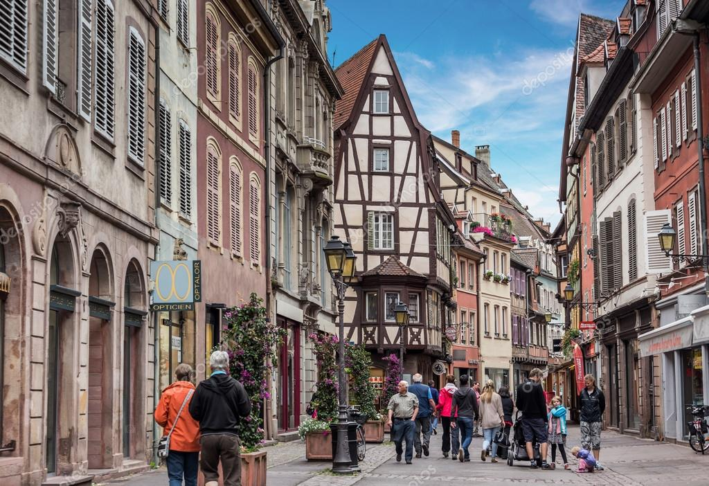 rues de la ville de colmar france photo ditoriale. Black Bedroom Furniture Sets. Home Design Ideas