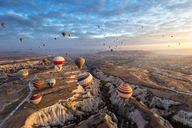 Air balloons in Cappadocia, Turkey