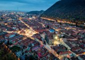 Fotografie Brasov city in Transylvania historical region in central and northwestern Romania