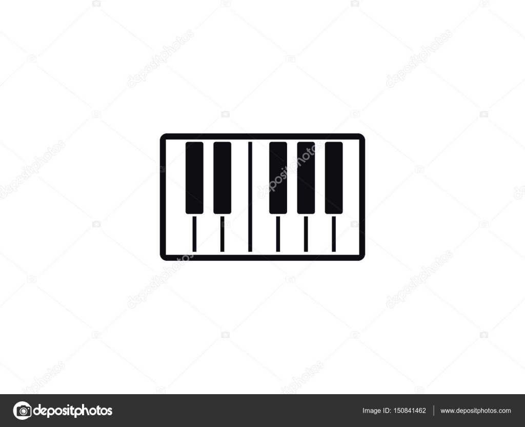 Piano Vector Icon Stock