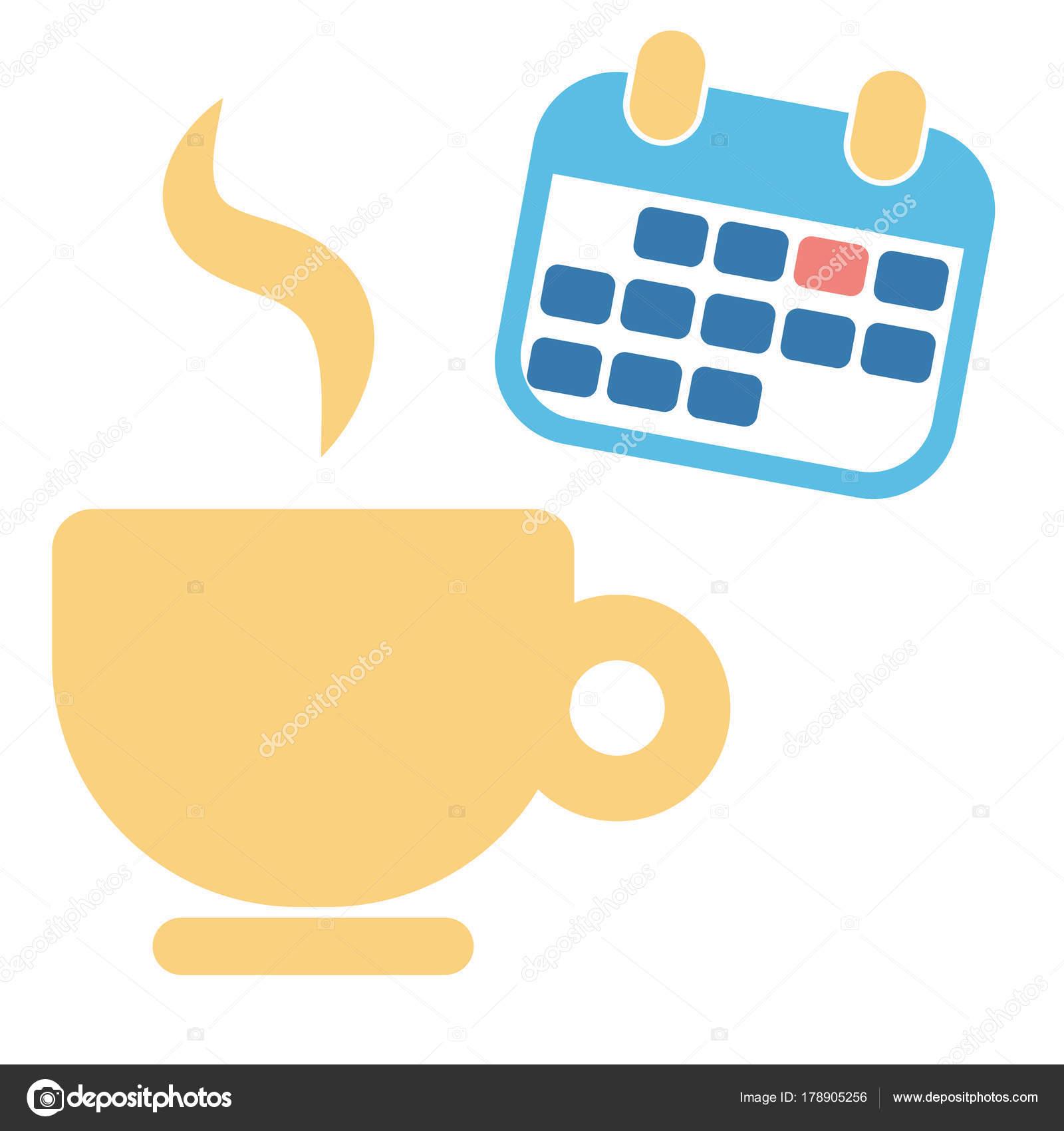 Calendario Ua.Xicara De Cafe E Mes Calendario Para Negocios Vetores De Stock