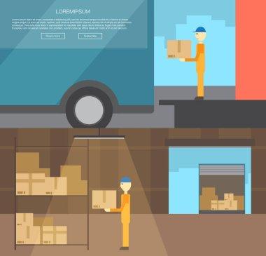 transportation of cargo logistics center