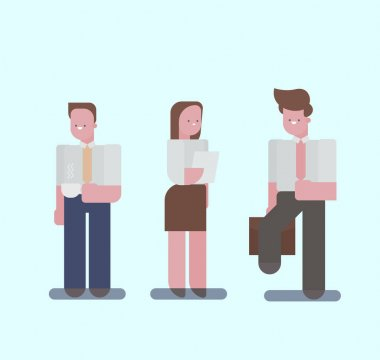 Set of different Flat characters.