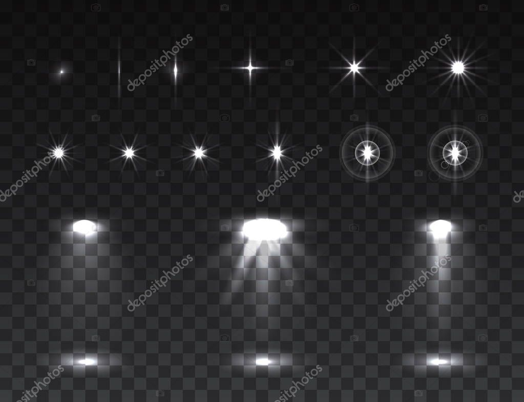 Abstract image of lighting flares