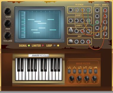 Retro music interface and elements