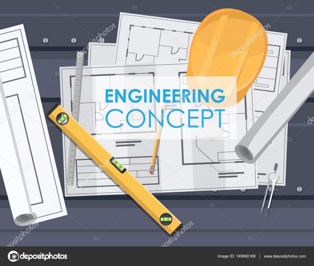 technische Zeichnung Plan engineering — Stockvektor © andrei ...