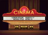 Retro-Kino-Leuchtreklame