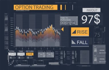 Stock market investment trading chart