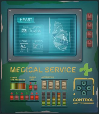 Futuristic medical interface