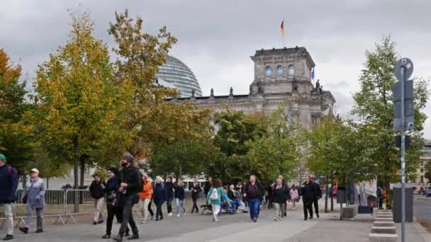 Tourists At Reichstag Building In Berlin, Germany